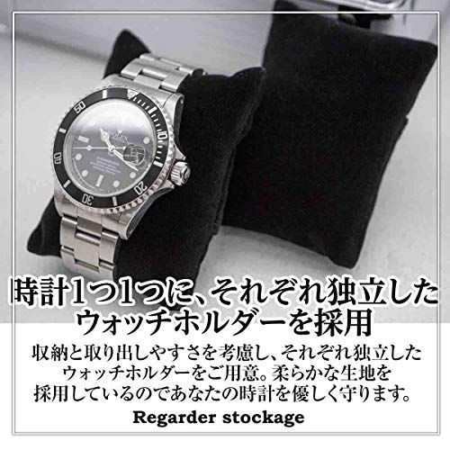 R-stockage腕時計ケース5本時計収納ボックスアルミ製ウォッチコレクションケースディスプレイシルバー高級感耐衝撃携帯持ち運び可能父の日敬老の日クリスマスプレゼントギフト(5本用)