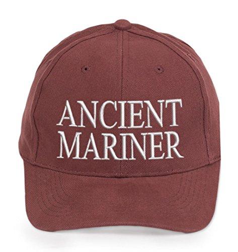 4sold 100% Cotton Ancient Mariner, Captain Cabin Boy Crew First Mate Yachting Casquette de Baseball Inscription Lettrage Marron Blanc (Ancient Mariner