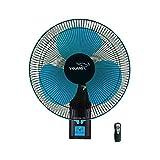 V-Guard Esfera RW 16 Remote Wall Fan (RPM 1350; Blue, Black)