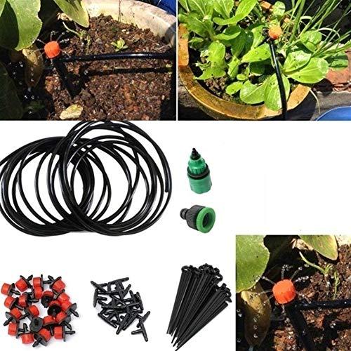 SymArt Conector de Tubo Sistema de riego de Agua Kit Iggigation Conjunto Micro Goteo jardín Planta automática (Color : 15m)