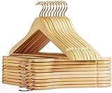 HOUSE DAY Lot de 32 cintres en Bois Solide Premium Manteau en...