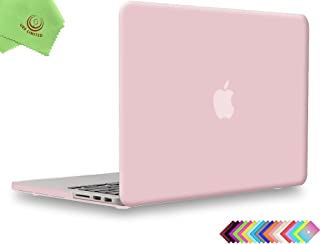 UESWILL Matte Hard Shell Case Cover for MacBook Pro 13 inch with Retina Display (No CD-ROM, No USB-C) (Model A1502/A1425, Version Early 2015/2014/2013/Late 2012), Rose Quartz