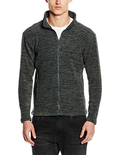 Stedman Apparel Active Melange Fleece Jacket, Sweat-Shirt Homme, Grey (Anthra Melange), Small (taille Fabricant: Small)