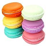KINGSO 6 Pcs Petite Boîte Ecrin De Rangement Forme Macarons Pour Bijoux Collier-Multicolore