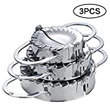 LaceDaisy 3 Pack Stainless Steel Dumpling Maker and Dough Press Dough Cutter, Dumpling Pie Ravioli Mould Pastry Maker Tool for Cooking Kitchen Accessories#1