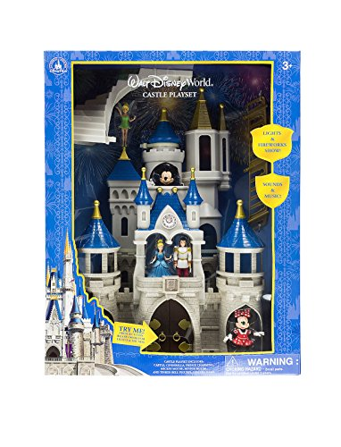 Walt Disney World Parks Cinderella Castle Large Playset Play Set Mickey Minnie