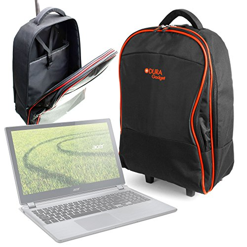 DURAGADGET Maleta de Ruedas para Viajar para Portátil Acer ES1-132-C9NX, Medidas de Equipaje de Mano.