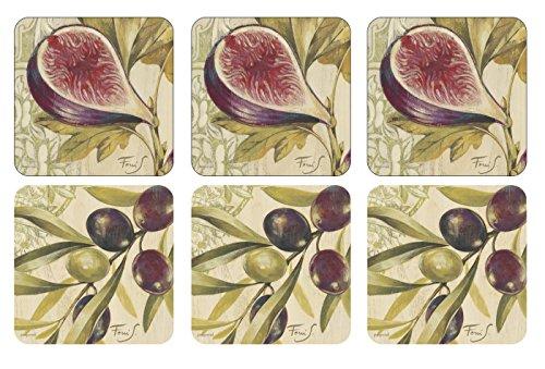 Pimpernel Olive &figues-Dessous-de-Verre-Set de 6