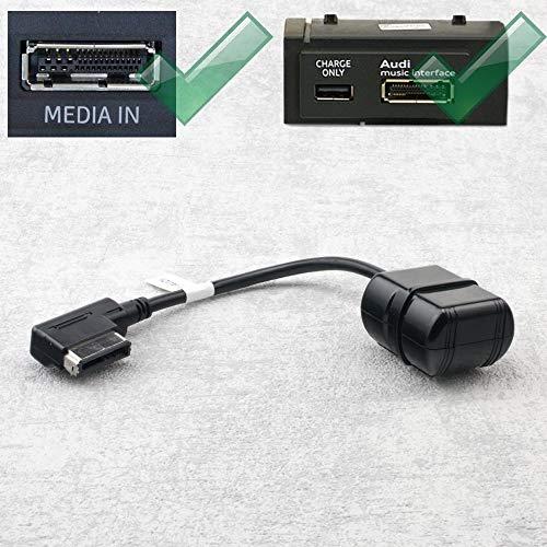 Bluetooth Cable adaptador para Audi AMI, por ejemplo A5 A6 A7 A8, Volkswagen MDI (con medios) por ejemplo Golf V/VI/Touran/Skoda Columbus con navegación