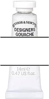 Winsor & Newton 0605512 Designer Gouache, Permanent White, 14ml