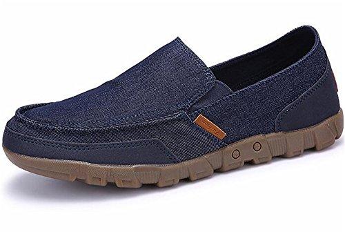 WUIWUIYU Homme Chaussures en Toile Bateau Espadrilles...