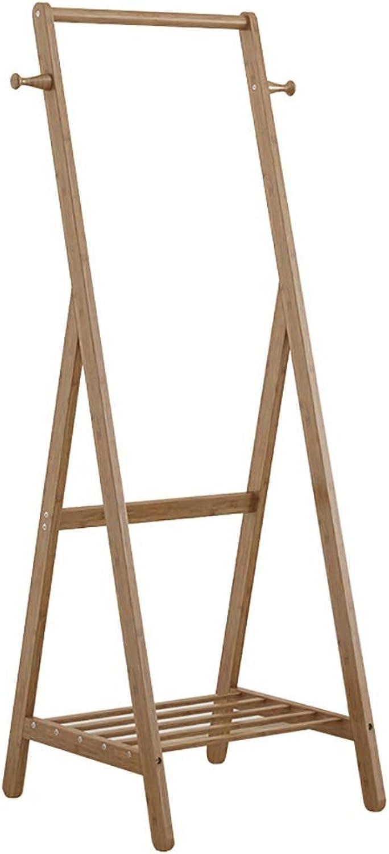 Coat Rack, Solid Wood Floor Coat Rack, Mobile Storage Rack, Multi-Scenario, Height 150cm (Size   50  55  150cm)