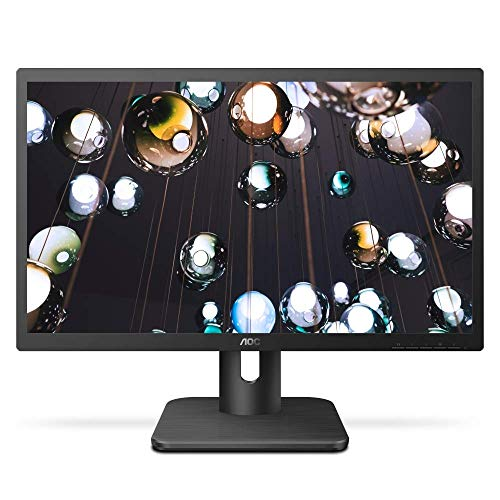 "AOC 27E1H 27"" Full HD 1920x1080 Monitor, IPS Panel, 5ms, FlickerFree, HDMI/VGA, VESA Compatible, EPEAT Silver, EnergyStar (Renewed)"