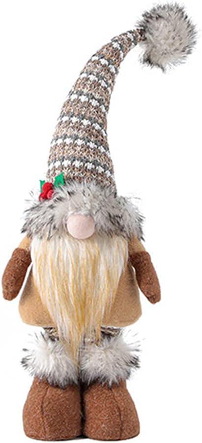 Free shipping on posting reviews 不适用 Glowing Max 63% OFF Christmas Plush Hat Orname Dwarf Desktop Gnome