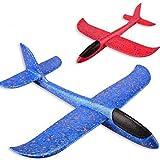 Delicacydex LED Forme Avion Lancement À La Main Lancer Planeur Avion Mousse Inertielle PPE Avion Jouet Avion Modèle en Plein Air Jouet Cadeau Éducatif