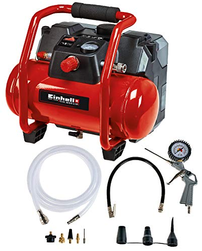 Einhell 4020450 Compressore A Batteria, Rosso, Nero, Li OF Set Power X-Change