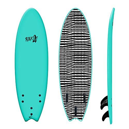 Rock-It 6' Albert Surfboard (Teal)