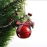 XXXKK Decoración Navideña,Red Christmas Red Bells Balls Adornos Glitter Christmas Tree Decor Balls Decoraciones Colgantes De Navidad Colgante Pequeño De Navidad para La Decoración del Banquete