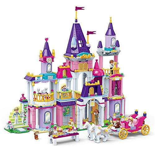 Bloques de construcción de niños Juguetes para niños 7-14 años de edad Bloques de construcción Princesa Castillo Pequeñas partículas Chica Juguetes para jugar creativo (Color: Multicolor, Tamaño: Un t