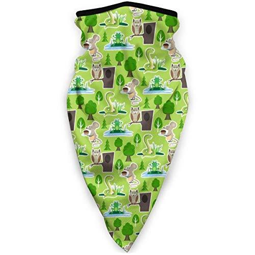 Hao-shop Bandeau Banbana, Nature Viper Souris Chouette Grenouille Wrap Multifonctionnel Magique Moto Chapeaux Sport en Plein Air Demi Visage Visage Écharpe Cou Couverture