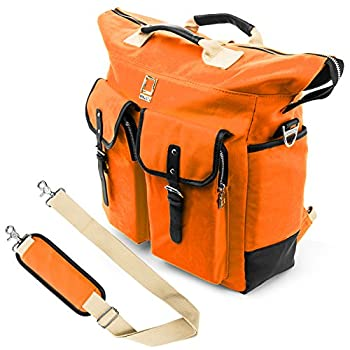 Universal Hybrid 3 in 1 Design Carrying Tote Messenger Crossbody Backpack Shoulder Bag for Motorola Xoom Sony Xperia Toshiba Thrive Excite Fit 10 to 12.2 inch Google Android Tablet Netbook Orange