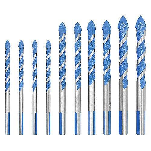 Eagles Metselwerk Boor Tungsten Carbide Getipte Keramische Tegel Boor voor Keramische Glas Tegel Opening Ponsen Gaten in De Muur, 6MM 8MM 10MM 12MM, 10 Stks