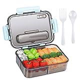 boîte à bento pour adultes et enfants, boîte à lunch en plastique à emporter et boîte de rangement