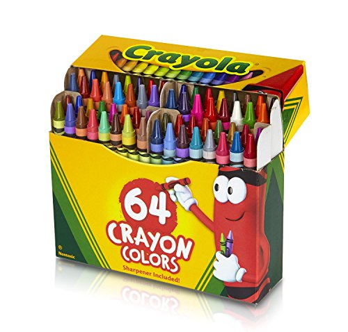 Crayola 52-0064 Crayons Assorted Colors 64 Count, Yellow,