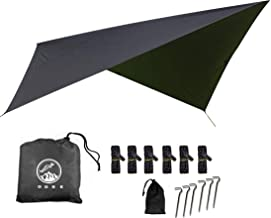 Outdoor Skye 10x10 Feet Rain Fly Hammock Tent Tarp for 2000PU Waterproof Protection - Large Canopy is Portable and Provides Ideal Shelter for Your Camping Hammock or Tent (Black)
