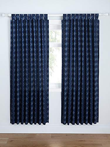 Catherine Lansfield Stars and Stripes Easy Care Tab Top Curtains Multi, 66x72 Inch