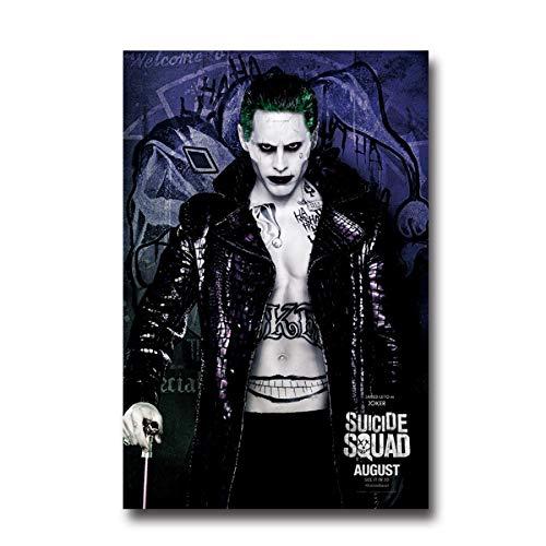 DPFRY Leinwandbilder Wandkunst Bild Selbstmord Squad Film Der Joker Jared Leto Poster PrintCanvas Bilder Ohne Rahmen 40 * 60 cm