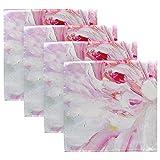 MNSRUU Pink und Weiß Pfingstrose Ölgemälde Tuch Servietten Abendessen Tisch Servietten waschbar wiederverwendbar Polyester Servietten 50,5 x 50,5 cm für Zuhause Tischservietten Set von 4