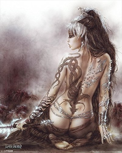 Luis Royo–Subversive Beauty–Tattoo–40x 50cm Kunstdruck/Poster