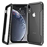 Lonlif for iPhone XR Case Protective Case, Military Grade Drop Tested, Clear PC Panel+TPU Frame, Multi-Layer Shockproof Fully Protection for iPhone XR 6.1 inch, Black+Gray+Clear