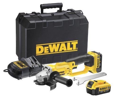 DeWalt DCG412M2-QW Mini-Amoladora XR 18V 125 mm con 2 baterías Li-Ion, + Maletín