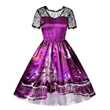 Luckycat Weihnachtenkleid Damen Elegant Abendkleid Vintage Weihnachten Party Kleid Mesh Brautkleid...