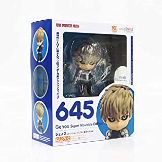 Allegro Huyer 10cm one Punch Man genos Super Movable Edition nendoroid 645 PVC Figure Model Collection Doll Kids Gift (with Box)