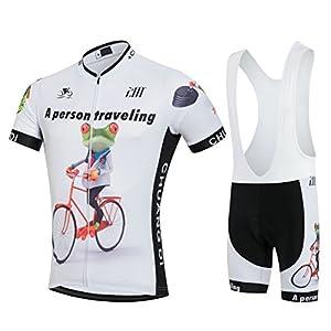 サイクルジャージ上下セット/男性用自転車サイクルウェア半袖/吸汗速乾/通気がいい/春夏用上下セッド