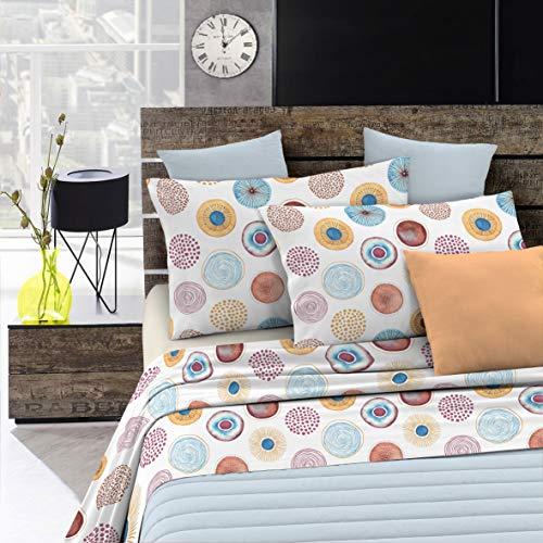 Italian Bed Linen Fantasy Completo Letto, Microfibra, Circle, A Una Piazza e Mezza
