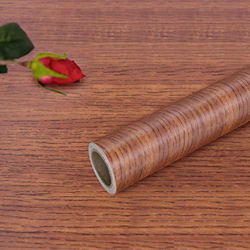 Hode Carta Adesiva per Mobili Legno Vinile Decorativo per Mobili Porta Autoadesiva Impermeabile 40X300cm (Legno)