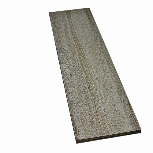 Möbelbauplatte Regalbrett Sonoma Eiche 1150 x 300 x 16 mm, 4 Seiten umleimt