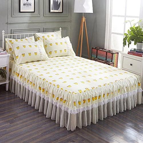 Liyingying Falda de Encaje Falda de Dibujos Animados, Familia y la Novia, la Mejor Ropa de Cama para Decorar el dormitorio-11_180cmx220cm