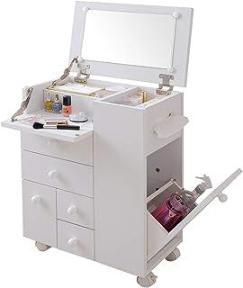 アイリスプラザ ドレッサー 化粧台 ホワイト 幅45×奥行27×高さ60cm