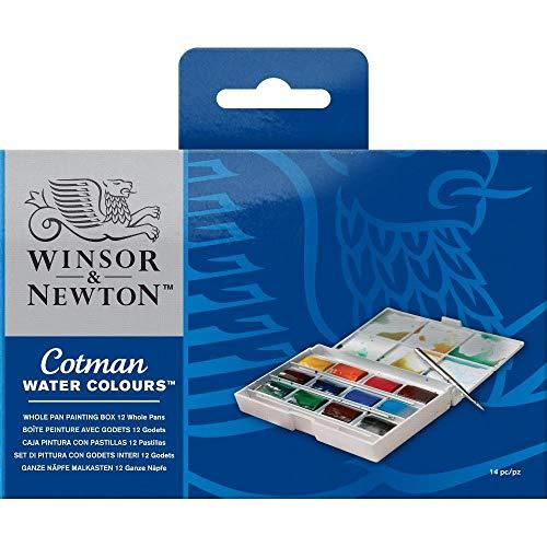 Oferta de Winsor & Newton acuarela Cotman - Set de 12 godets de acuarela, colores surtidos