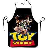 GWrix Delantal Barista Toy Story Delantal de Chef Personalizado con Borde Negro