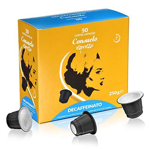 Consuelo - cápsulas de café compatibles con Nespresso* - Descafeinado, 50 cápsulas