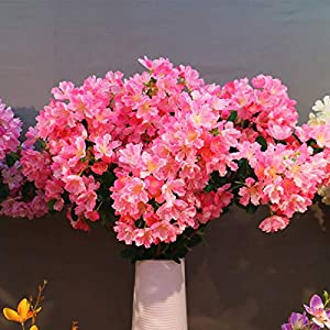 Artificial Silk Fake Flower Branch Long Bouquet DIY Home Wedding Decor Home Office Party Hotel Yard Decoration Restaurant Patio Festive Furnishing Bougainvillea Lagerstroe Miaindica(N)