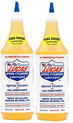 2 x Lucas Cylindre supérieur Lubrifiant avec Injecteur Nettoyant et carburant Conditioner 1 litre