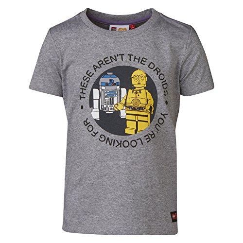 Lego Wear Jungen Lego Star Wars Tony 450-T-SHIRT T-Shirt, Grau (Grey Melange 924), 128