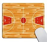 Smooffly Gaming Mouse Pad Custom,Basketball Court Designs Non-Slip Rubber Customized Computer Mouse Pad 9.5 X 7.9 Inch (240mmX200mmX3mm)